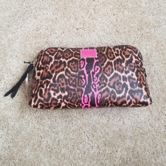 d49817407e7c9 Victoria's Secret leopard print makeup bag NWT